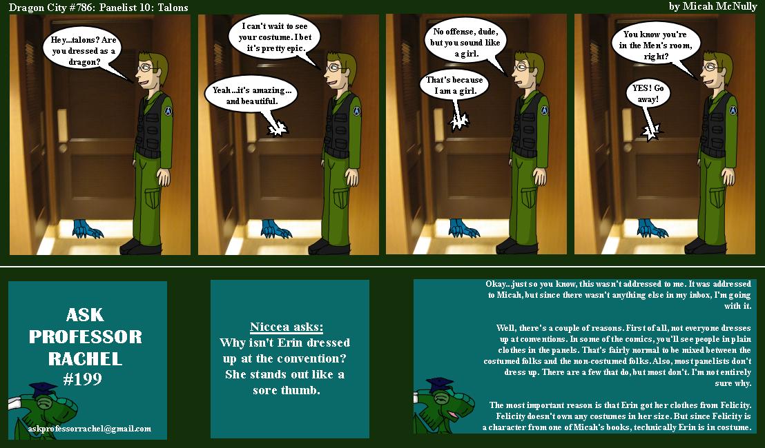 786. Panelist 10: Talons (With Ask Professor Rachel 199)