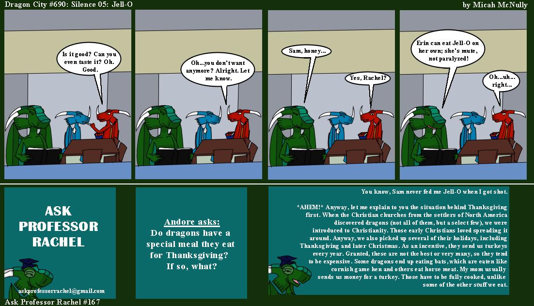 690. Silence 05: Jell-O (With Ask Professor Rachel 167)