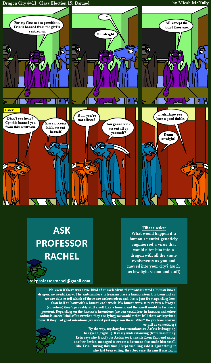 411. Class Election 15: Banned (With Ask Professor Rachel 74)