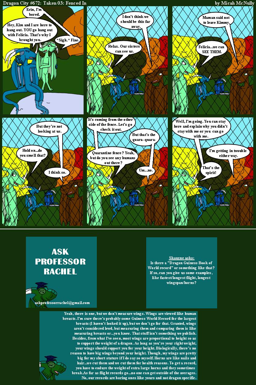 672. Taken 03: Fenced In (With Ask Professor Rachel 161)