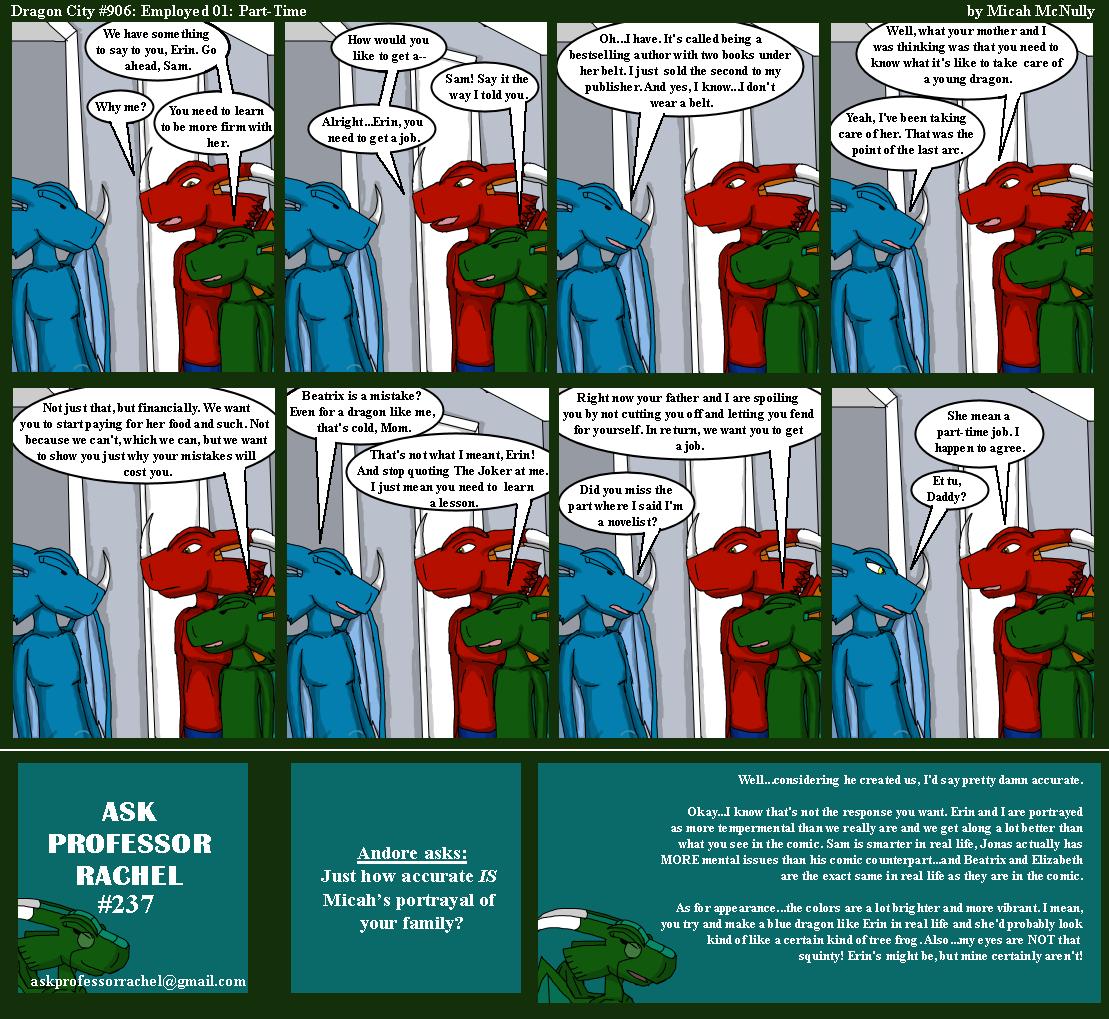 906. Employment 01: Part-Time (With Ask Professor Rachel 237)