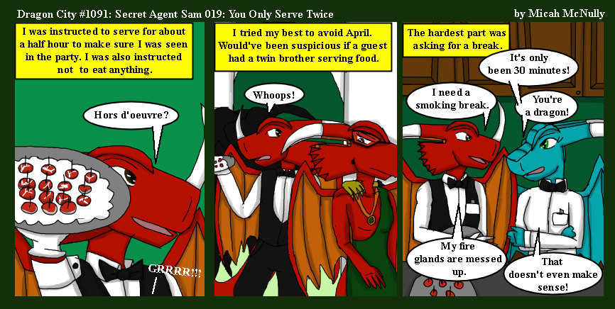 1091. Secret Agent Sam 019: You Only Serve Twice